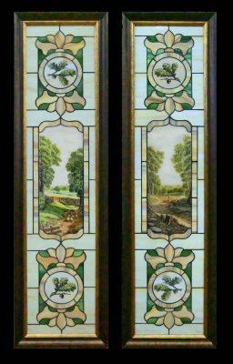 Эксклюзивные витражные изделия с росписью №12 - от 18100 руб. п/м