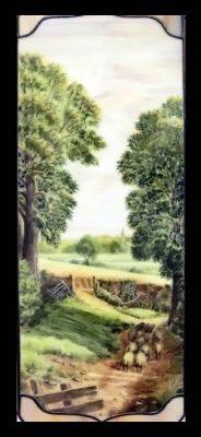 Эксклюзивные витражные изделия с росписью №13 - от 18100 руб. п/м