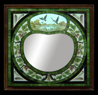 Эксклюзивные витражные изделия с росписью №14 - от 18100 руб. п/м
