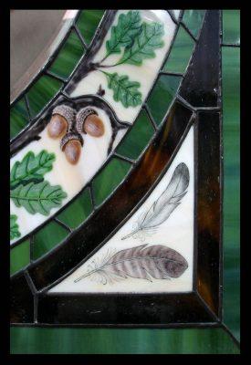 Эксклюзивные витражные изделия с росписью №15 - от 18100 руб. п/м
