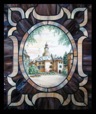 Эксклюзивные витражные изделия с росписью №18 - от 18100 руб. п/м