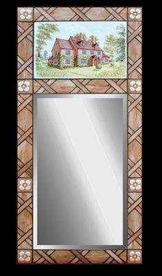 Эксклюзивные витражные изделия с росписью №20 - от 18100 руб. п/м