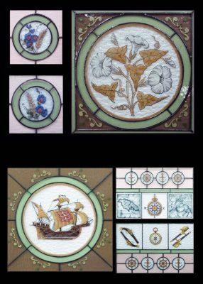 Эксклюзивные витражные изделия с росписью №25 - от 18100 руб. п/м