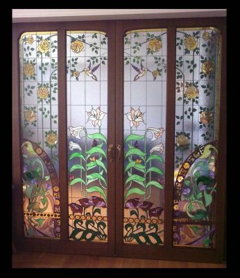 Изготовление витражей для дверей №13