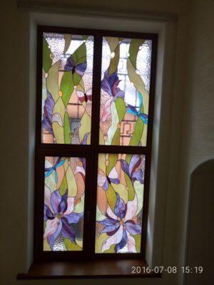 Изготовление витражей на окна №18 - Купить витражные окна
