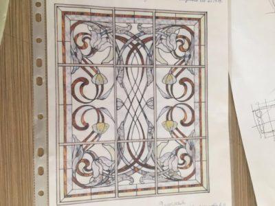 Изготовление витражей на окна №31 - Купить витражные окна