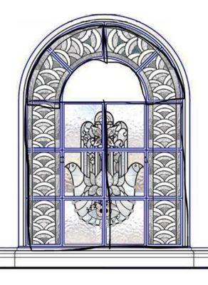 Изготовление витражей на окна №36 - Купить витражные окна