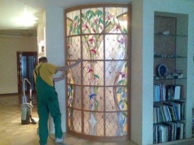 Изготовление витражей на окна №20 - Купить витражные окна