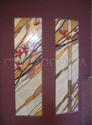 Изготовление витражей на окна №73 - Купить витражные окна