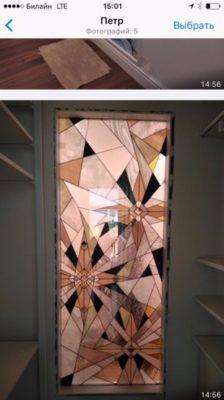 Изготовление витражей на окна №23 - Купить витражные окна