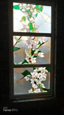 Изготовление витражей на окна №78 - Купить витражные окна