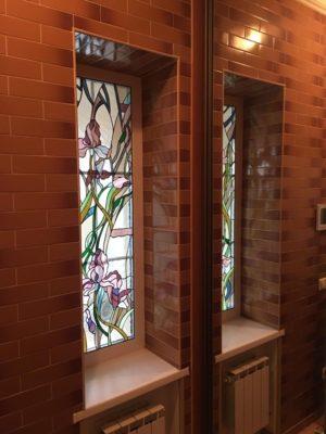 Изготовление витражей на окна №92 - Купить витражные окна