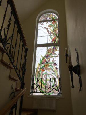 Изготовление витражей на окна №100 - Купить витражные окна